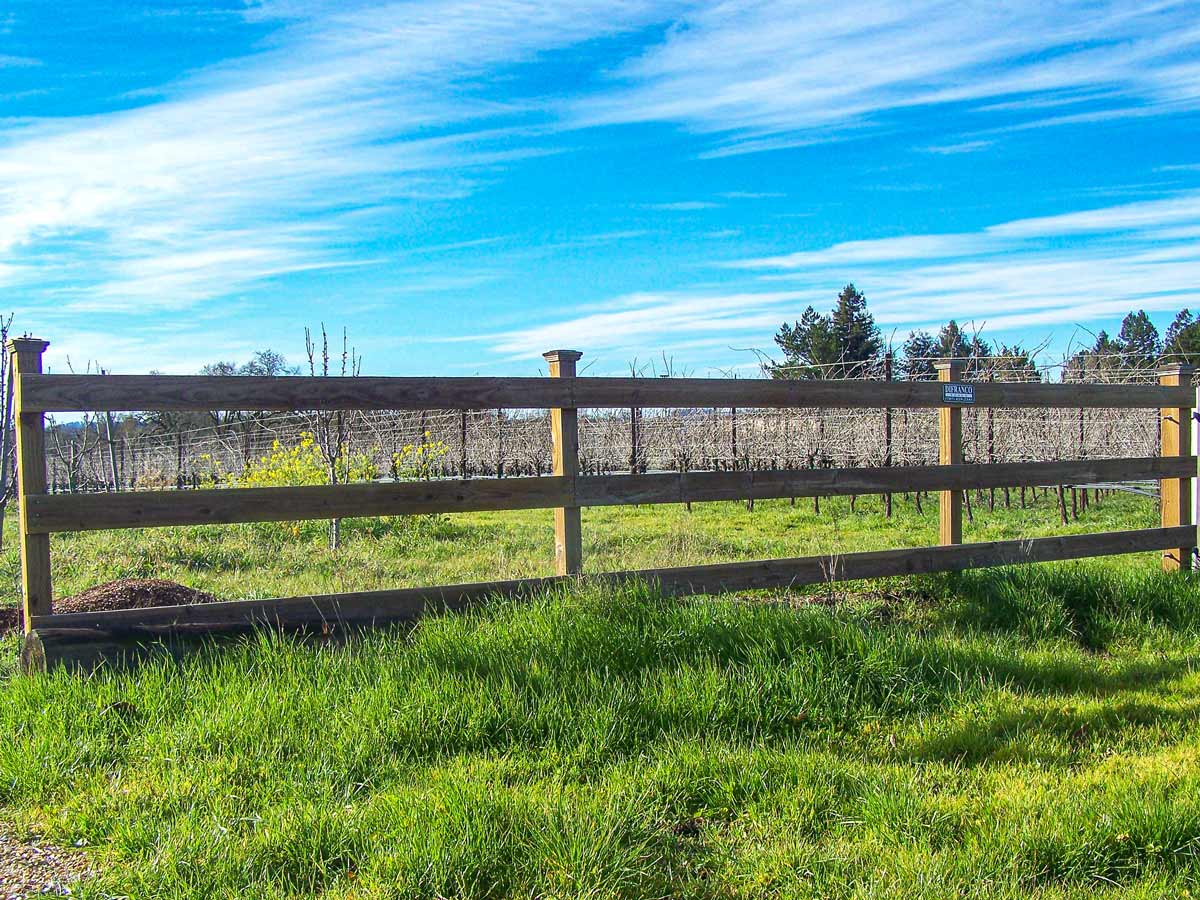 DiFranco Gate & Fence - Residential & Commercial Custom Fence Contractor - Wood Style - Corral Fence -  Healdsburg, CA