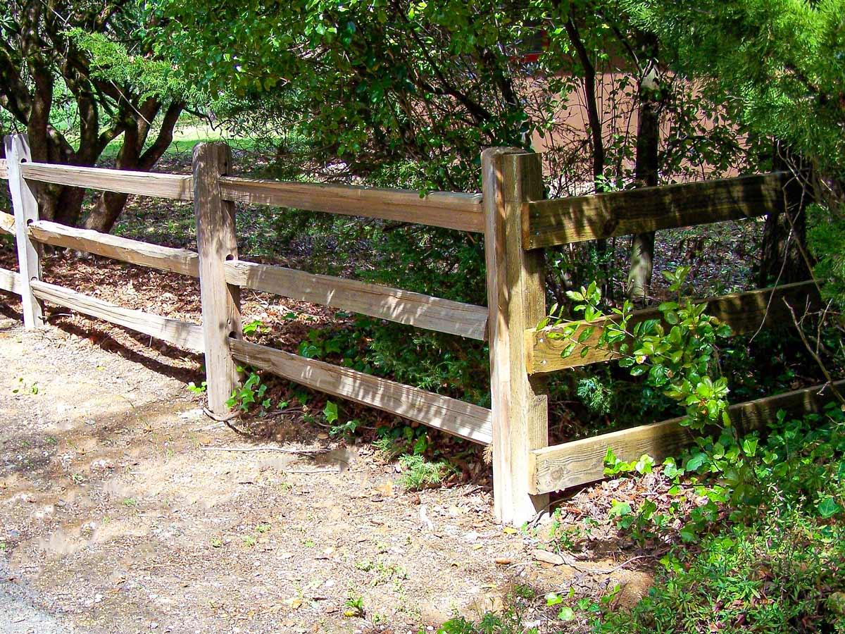 DiFranco Gate & Fence - Residential & Commercial Custom Fence Contractor - Wood Style - Split Rail Fence -  Petaluma, CA