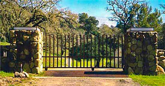 DiFranco Gate & Fence Company - Custom Ornamental Iron Driveway Gates - Rolling Automatic - Driveway Gate - Healdsburg, CA