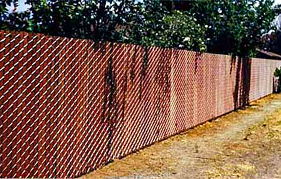 DiFranco Gate & Fence Company - Custom Wire Fences - Slatted Vinyl Chain Link Fence - Santa Rosa, CA