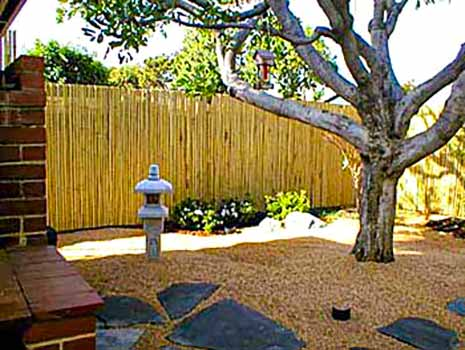 DiFranco Gate & Fence Company - Custom Bamboo Fences - Bamboo Fence Attached to Frame - Windsor, CA