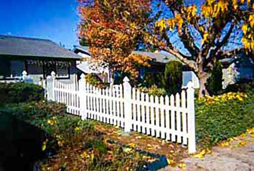 DiFranco Gate & Fence Company - Custom Built Picket Fences - Concave Plastic Picket Fence - Rohnert Park, CA