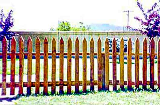 DiFranco Gate & Fence Company - Custom Built Picket Fences - Long Point Classic Picket Fence - Sonoma County, CA