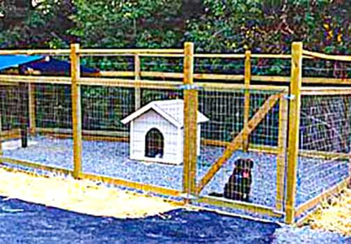 DiFranco Gate & Fence Company - Custom Wire Fences - Non Climbing Wire Animal Pen Fence Enclosure - Petaluma, CA