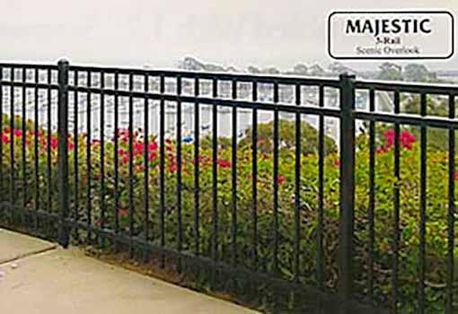 DiFranco Gate & Fence Company - Ornamental Iron Fences - Majestic Style 3-Rail Fence - Bodega Bay, CA