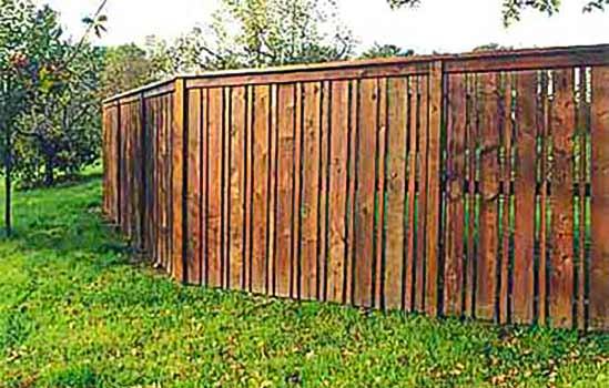 "DiFranco Gate & Fence Company - Custom Built Recessed Board Fence - Recessed Board Fence Cap & Trim with 2"" Spacing - Sebastopol, CA"