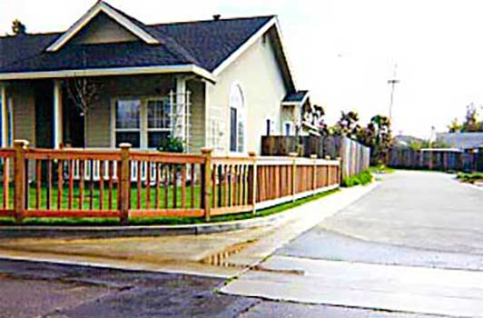DiFranco Gate & Fence Company - Custom Built Picket Fences - Recessed Picket Fence Frame & Baluster with Post Caps - Petaluma, CA