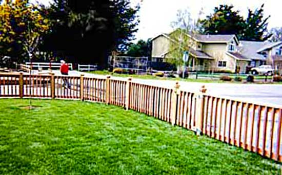 DiFranco Gate & Fence Company - Custom Built Picket Fences - Recessed Picket Fence Frame & Baluster with Post Caps - Windsor, CA