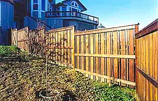 DiFranco Gate & Fence Company - Custom Recessed Board Fences - Simple Solid Board Fence with Alternating Sections - Santa Rosa, CA