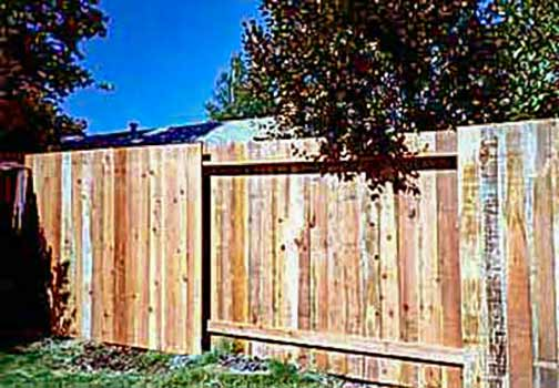 DiFranco Gate & Fence Company - Custom Solid Board Fences - Simple Solid Board Fence with Alternating Sections - Rohnert Park, CA