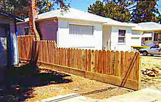 DiFranco Gate & Fence Company - Custom Solid Board Fences - Simple Solid Board Fence with Tiered Heights - Cotati, CA