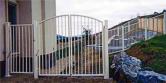 DiFranco Gate & Fence Company - Ornamental Iron Fence & Gates - Western Style Fence with Arched Yard Gate - Santa Rosa, CA