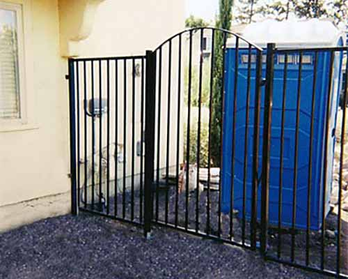 DiFranco Gate & Fence Company - Ornamental Iron Fence & Gates - Western Style Fence with Arched Yard Gate - Rohnert Park, CA