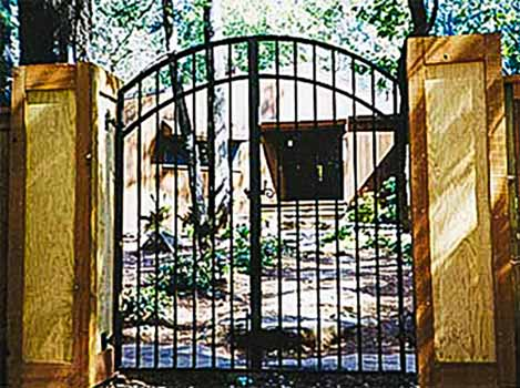 DiFranco Gate & Fence Company - Ornamental Iron Gates - Double Arched Double Doored Yard Gate - Sebastopol, CA