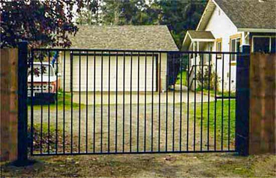 DiFranco Gate & Fence Company - Custom Ornamental Iron Driveway Gates - Western Style - Driveway Gate - Windsor, CA