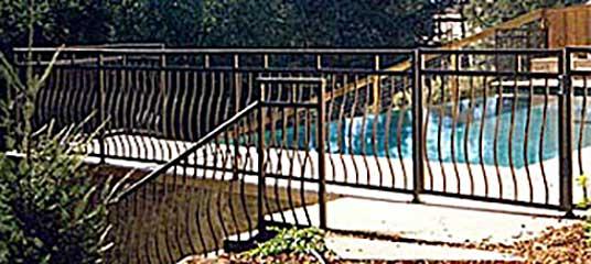DiFranco Gate & Fence Company - Ornamental Iron Railing & Gates - Pool Guard Railing and Gate / Stair Railings - Kenwood, CA