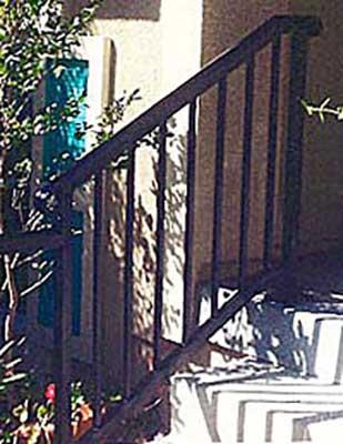 DiFranco Gate & Fence Company - Ornamental Iron Guard & Hand Railings - Simple Stair Hand Rails - Cloverdale, CA