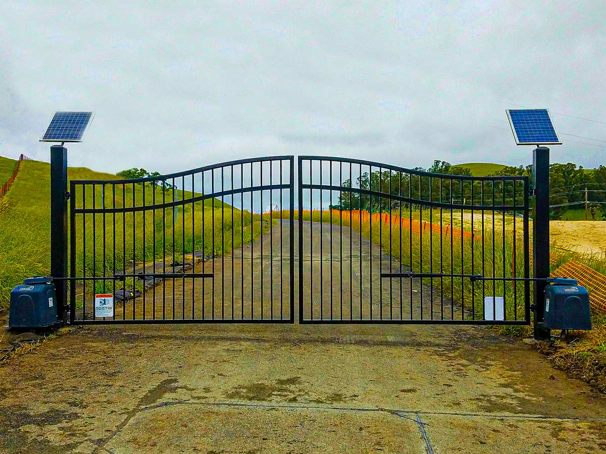DiFranco Gate & Fence Company - Full-Service Custom Automated Gates & Fences Construction Company - Custom Automated Iron Arched Double Top Rail Gate - Residential & Commercial Contractor Services - Marin County, CA